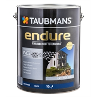 Taubmans Endure 10L Low Sheen White Exterior Paint