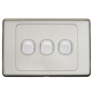 DETA S-Line Stainless Steel Triple Switch