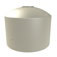 Melro 2200L Round Squat Poly Water Tank - Smooth Cream