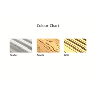 Roberts 0.825m Gold Hammered Cover Strip Trim
