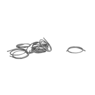 Windoware 32mm Zinc Plated Curtain Ring - 10 Pack
