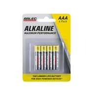 Arlec AAA Alkaline Batteries - 4 Pack