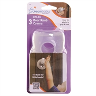 Dreambaby Child Safety EZY-Fit Safety Door Knob Cover - 3 Pack