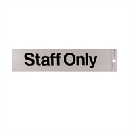 Sandleford 245 x 58mm Staff Only Silver Self Adhesive Sign