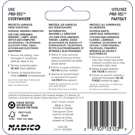 Madico 19mm Clear Self-Stick Protec Surface Savers - 6 Pack