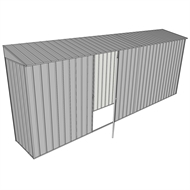 Build-a-Shed 0.8 x 5.2 x 2m Skillion Shed with Single Hinged Side Door - Zinc