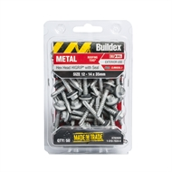 Buildex 12-14 x 35mm Climaseal Hex Head With Seal Cladding Tek Screws - 50 Pack