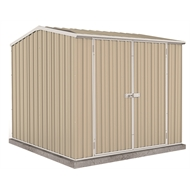 Absco Sheds 2.26 x 2.26 x 2m Double Door Premier Shed - Paperbark