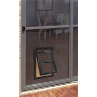 Pillar Products 202 x 254mm Medium Flyscreen Pet Door Black
