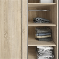 Flexi Storage Oak 2 Sliding Wardrobe Shelves