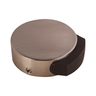 Adoored Satin Chrome Rubber Tipped Round Door Stop