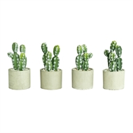 UN-REAL 19cm Artificial Cactus In Concrete Pot