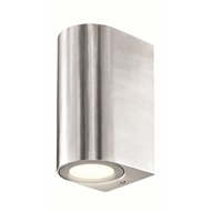 Brilliant 35W Brushed Aluminium Corbett Up Down Exterior Wall Light