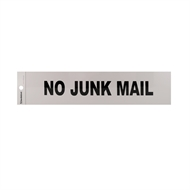 Sandleford 245 x 58mm No Junk Mail Silver Self Adhesive Sign