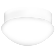 Arlec White Oyster Fan Ceiling Light