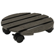 Whites 29cm Round Pot Trolley - Charcoal