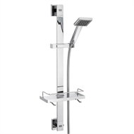 Caroma WELS 3 Star 80 x 700mm Chrome Quatro Rail Shower