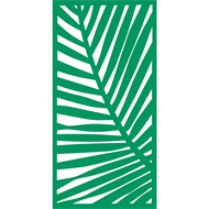 Protector Aluminium 1200 x 2400mm Palm Decorative Panel Unframed - Light Green