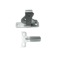 Protector Aluminium D-Latch and Striker Pack - Woodland Grey