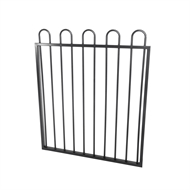 Protector Aluminium 975 x 1500mm Custom Loop Top Boundary And Garden Gate