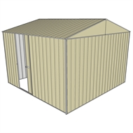 Build-a-Shed 3.0 x 3.0 x 2.3m Gable Single Sliding Side Door Shed - Cream