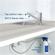 BRITA 3-Way Filter Tap 45° Neck (Hot, Cold And Filtered)