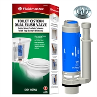 Fluidmaster 38mm Dual Button Cistern Outlet Valve