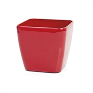 Eden 22cm Premium Round Red Self Watering Plastic Pot