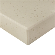 Essential Stone 40mm Pencil Round Urbane Stone Benchtop - Coconut Sorbet