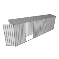 Build-a-Shed 0.8 x 6 x 2m Hinged Door Tunnel Shed with Double Sliding Side Doors - Zinc
