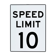 Sandleford 450 x 600mm 10km Speed Limit Plastic Sign