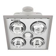 Hpm Bathroom Instant Heat 4 X 275w White 3 In1 Exhaust Fan Heat Led Light