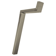 COLORBOND 100 x 50mm Adjustable Downpipe Offset - Paperbark