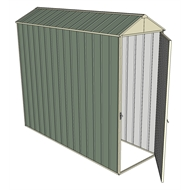 Build-a-Shed 0.8 x 2.3 x 2.3m Gable Single Hinged Door Shed - Green