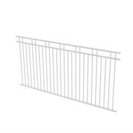 Protector Aluminium 2450 x 1200mm Double Top Rail 2 Up 2 Down Ulti-M8 Fence Panel - Pearl White