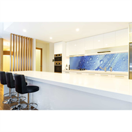 Bellessi 725 x 2440 x 6mm Polymer Motiv Textured Splashback - Blue Drops
