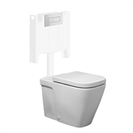 Caroma WELS 4 Star Cube Invisi Series II Wall Faced Suite