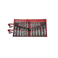 Sidchrome 24 Piece Metric / AF 440 Pro Series Ring And Open End Spanner Set