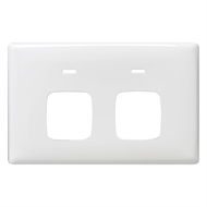 HPM LINEA Double Autoswitch Powerpoint Coverplate - White