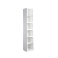 Multistore 1495 x 250 x 430mm Crisp White High Shoe Tower With 5 Adjustable Shelves