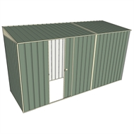 Build-A-Shed 1.2 x 3.7 x 2.0m Zinc Skillion Single Sliding Side Door Shed - Green