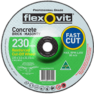 Flexovit 230 x 3.4 x 22.2mm Masonry Cutting Wheel