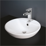 Caroma White Orbis 1TH Above Counter Inset Basin