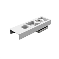 Cowdroy Zinc Plated Track Cupboard Bottom Pivot Assembly For Bi-Fold Doors