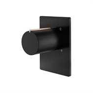 Mondella Matte Black And Rose Gold Signature Shower Mixer