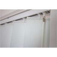 Windoware White Poly Vertical Delta Blind - 2100mm x 2100mm