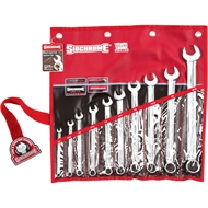 Sidchrome 10 Piece A/F Ring And Open End Spanner Set