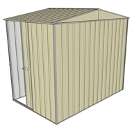 Build-a-Shed 2.3 x 1.5 x 2.3m Gable Single Sliding Side Door Shed - Cream
