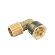 Kinetic 15mm Brass Male / Female Threaded Elbow