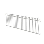 Protector Aluminium 2450 x 900mm J Spear Top Fence Panel - Surfmist